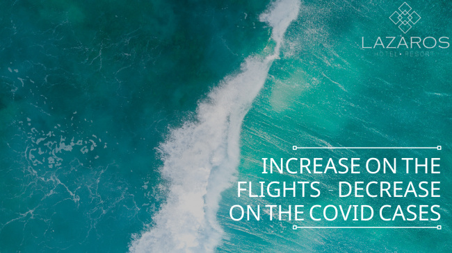 lazaros hotel resort - great news! increase on the flights to zante – decrease on the covid cases